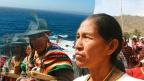 Originarios bolivianos y mar