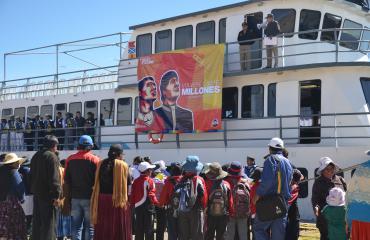 Ministerio de Comunicación y la Armada Boliviana adelantan el festejo por el día de la niñez boliviana