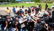 Presidente Evo Morales en declaración a medios