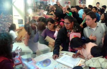 Feria del Libro La Paz, stand del Ministerio de Comunicación